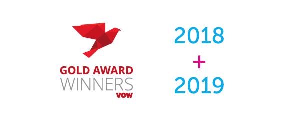 VOW Gold award winner 2018 & 2019