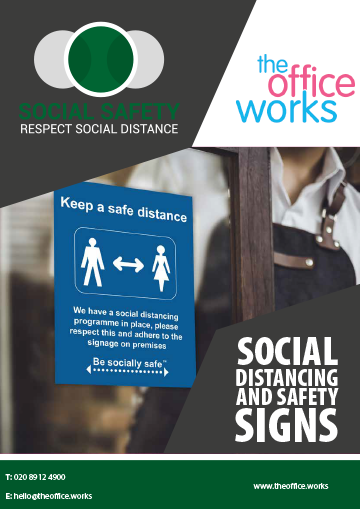 Social Distancing Brochure - Safety Signs